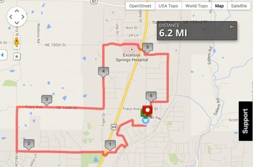 Sarah's 10K Map