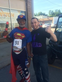 Mark Harmon of Anytime Fitness with Michael Wheeler.