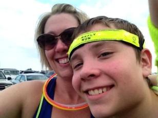 Sarah and Gabriel Grosko at the Glow Run