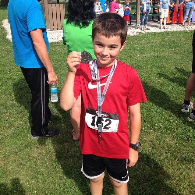 Mason finished second in his age group at the Gooseberry 5K.