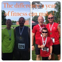 Dustin commemorated the one-year anniversary of his very first 5K race at the Gooseberry in 2013.