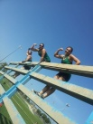 "Sarah Grosko joined the ""Girls of Anytime Fitness"" (Cassandra Davis and Carissa Marie) at the LoziLu Women's Mud Run"