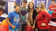 LeeJae Wansing with Tera McBride and Melissa Miller Bartlett at the expo.