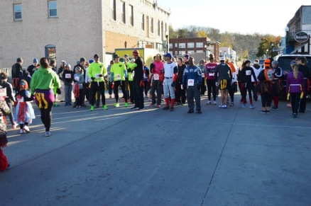 The starting line for the Zombie 5K
