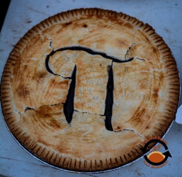 On Pi Day - 3/14/15 - there was pie at the finish line!