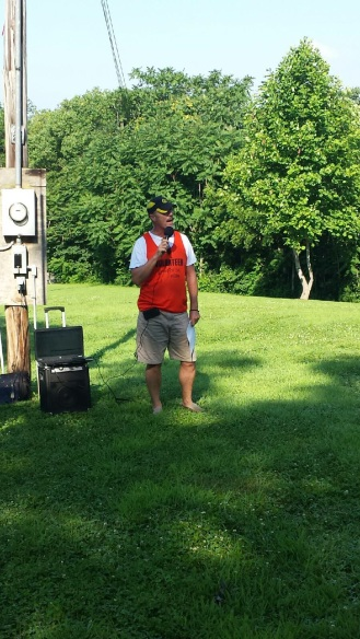 Race director Don Ledford, who along with Sarah Wilson organized the Waterfest 5K