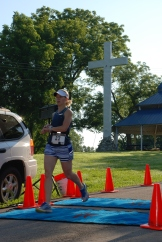 Stacey Scheer finished in first place, overall, women's division.