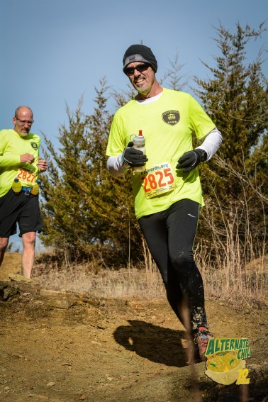 Jody Pasalich, Don Ledford and Russell Wenz (not pictured here, as he had long since crossed the finish line ahead) participated in the 10-plus-mile trail run around Wyandotte County Lake.