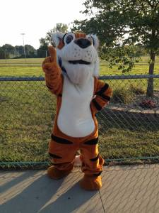 Our ESHS Tiger mascot will cheer on runners.